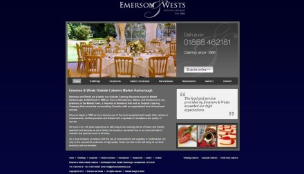 A screenshot of the Emerson And Wests Website